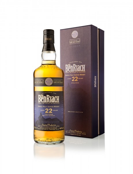BenRiach 22 Jahre Dunder Peated Dark Rum Finish Second Edition