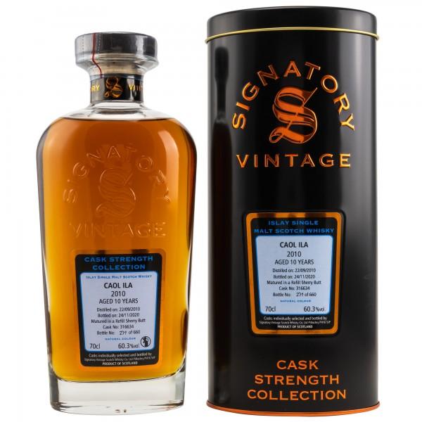 Caol Ila 10 Jahre 2010 - 2020 Cask Strength Signatory Vintage