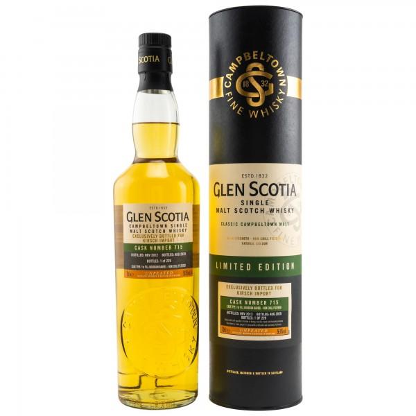 Glen Scotia 2012 - 2020 1st Fill Bourbon Barrel 715