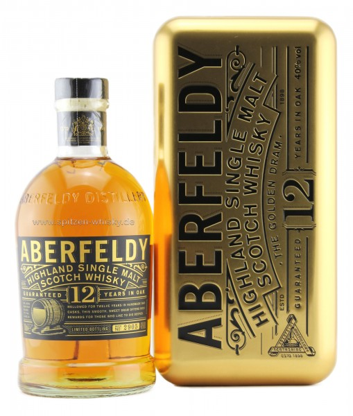 Aberfeldy 12 Jahre in goldener Metallbox