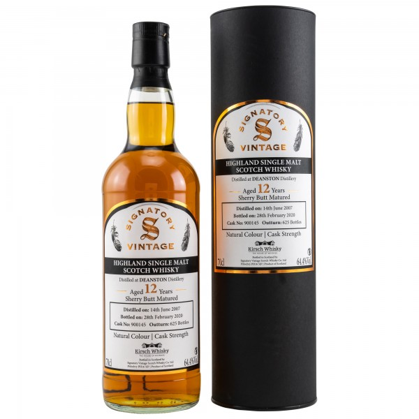 Deanston 2007 - 2020 Sherry Butt Signatory Vintage