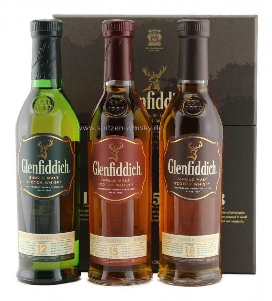 Glenfiddich Explorer's Collection 12, 15 und 18 Jahre 40% 0,6l