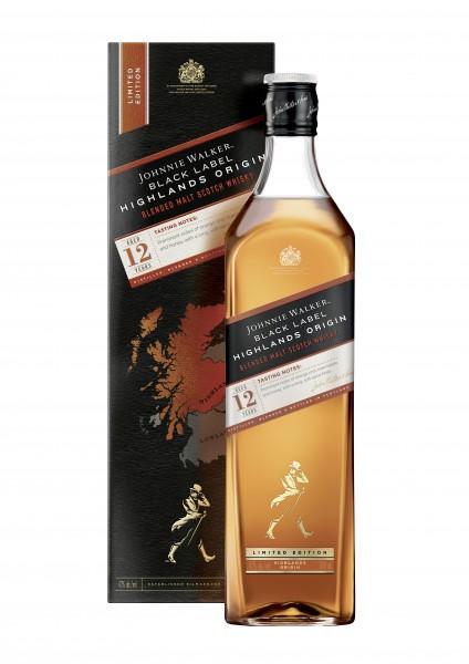 Johnnie Walker 12 Jahre Black Highland Origin