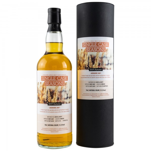 Ardmore 12 Jahre 2007 - 2019 Single Cask Seasons Autumn 2019
