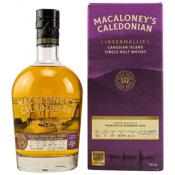 Invermallie – Ex-Bourbon Single Cask Macaloney's Caledonian Canadian Single Malt Whisky