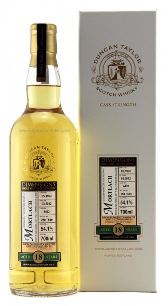 Mortlach 18 Jahre 1993 / 2012 Duncan Taylor Dimensions