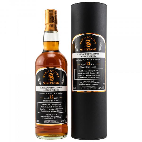 Blair Athol 12 Jahre 2008 - 2020 40 Jahre Celtic Whisky Signatory Vintage